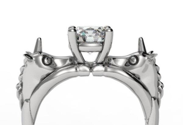 Unicorn Engagement Ring Geek Engagement Ring Fantasy