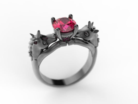 Unicorn Engagement Ring Geek Engagement Ring Nerd Engagement