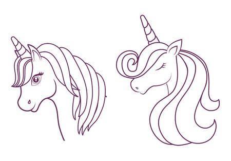 Unicorn Head Clipart Black And White 1 » Clipart Portal