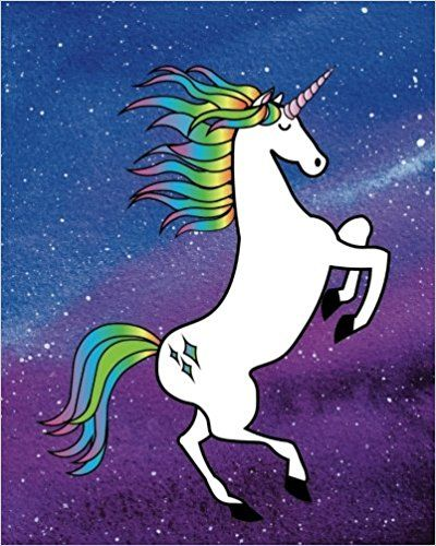 Unicorn Journal  160 Blank Lined Page Softcover Journal, College