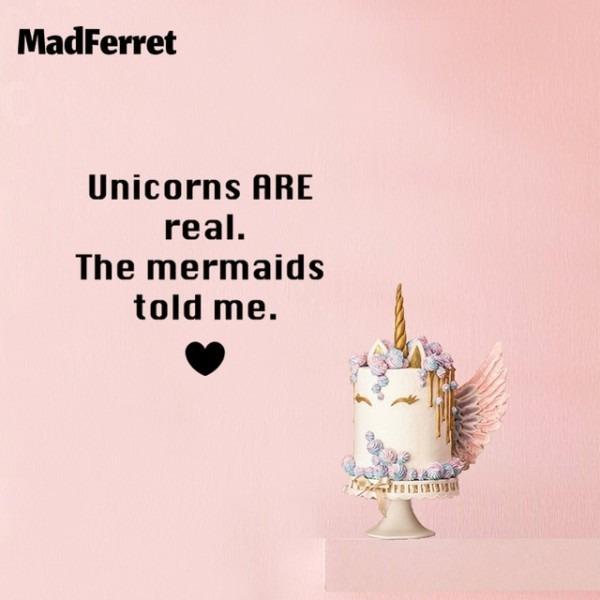 Unicorn Mermaid Wall Stickers For Kid Room Princess Decoration