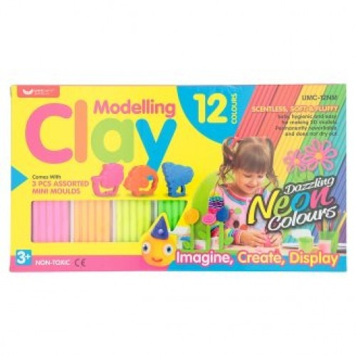Unicorn Modelling Clay (neon) 12 Colours