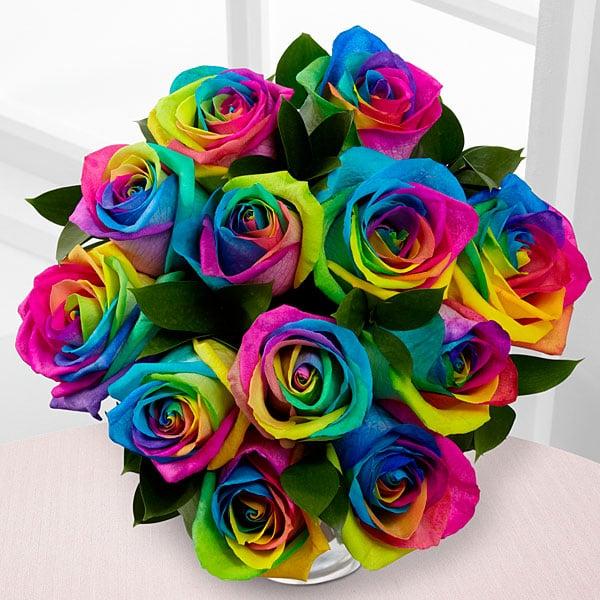 Unicorn Rainbow Roses