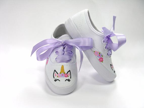 Unicorn Shoes Hand Painted Sneakers For Baby Or Toddler