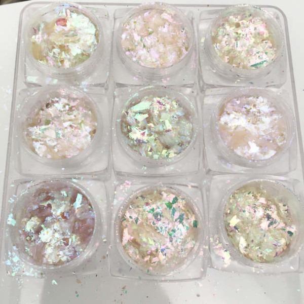 Unicorn Skin Flakes Magic Flakes Multi Chrome Nail Powder Rainbow
