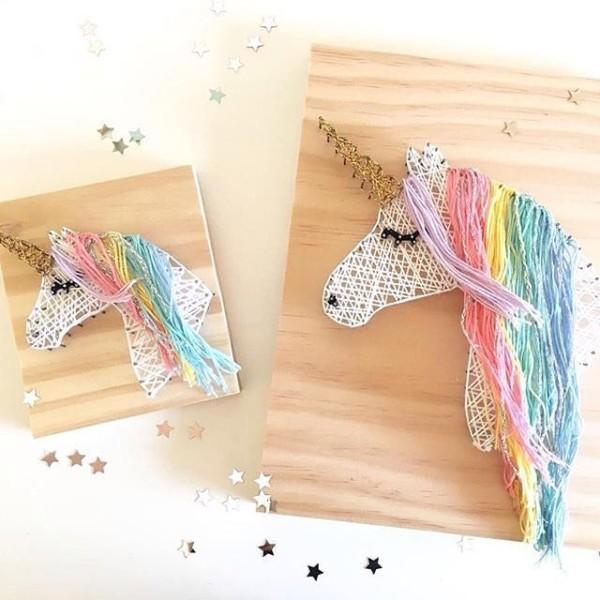 Unicorn String Art