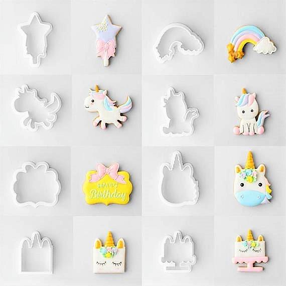 Unicorn Theme Cookie Cutter (8 Pcs)