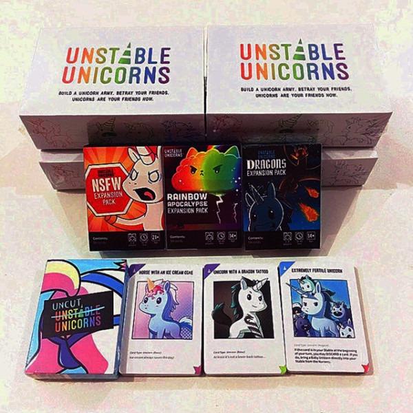 Unstable Unicorns Uncut Cards Game Dragons Rainbow Apocalypse Nsfw