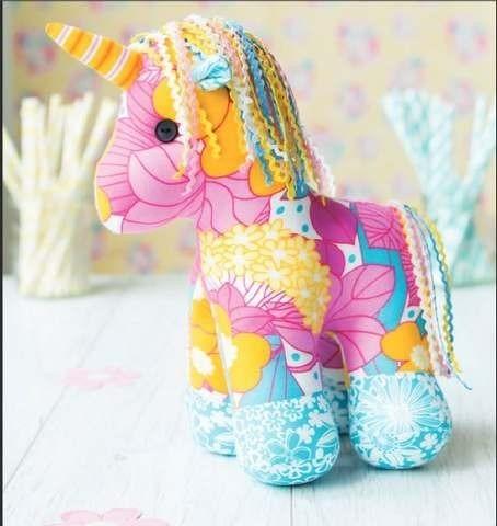 Yumi The Unicorn Toy Sewing Pattern Download