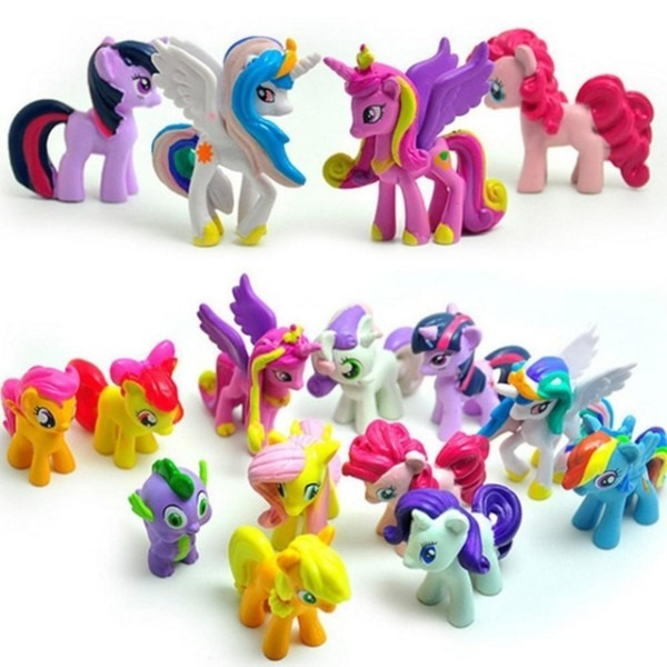 12 Pcs Set Cute Pvc Horse Action Toy Figures Doll Earth Ponies