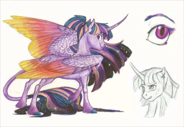 19+ Beautiful Horse Drawings, Art Ideas