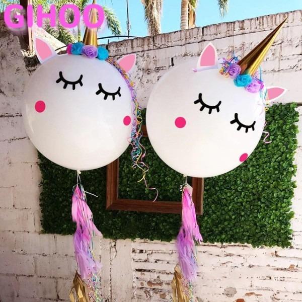 1 Set Unique Unicorn Theme Baby Event Party Supplies Stickers