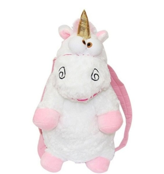 1pc 60cm Despicable Me Fluffy Unicorn Backpack Juguetes Brinquedos