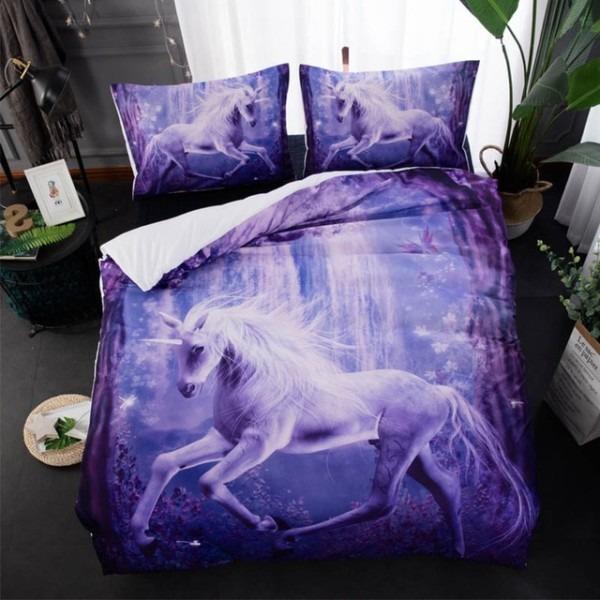 3d Unicorn Printed Comforter Bedding Sets Duvet Cover Double