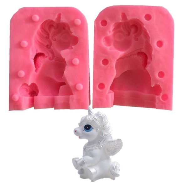 3d Unicorn Silicone Handmade Soap Mold Candle Clay Molds Diy Cake