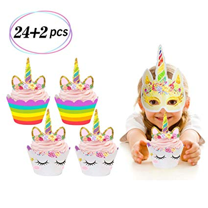 Amazon Com  24 Pcs Unicorn Party Gift Bags Candy Paper Bags With
