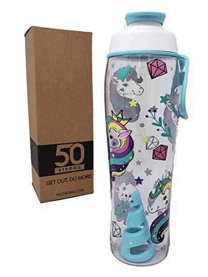 Amazon Com  50 Strong Twister Mixer Tritan Protein Shaker Bottle