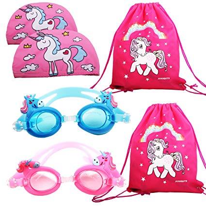 Amazon Com   2pcs Kids Unicorn Swim Goggles With 2pcs Unicorn