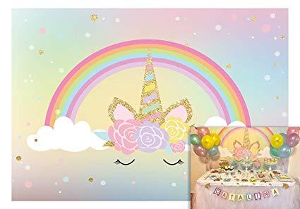 Amazon Com   Allenjoy 5x3ft Magic Rainbow Unicorn Baby Shower