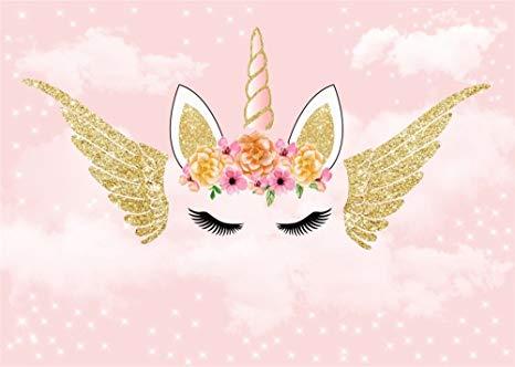 Amazon Com   Leowefowa 10x8ft Unicorn Backdrop Golden Wings