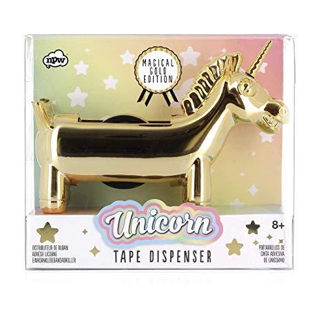 Amazon Com   Npw Gold Edition Unicorn Tape Dispenser, Rainbow Tape