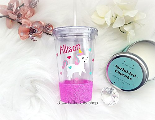 Amazon Com  A Fully Customized Kids Unicorn Tumbler  Fully Sealed