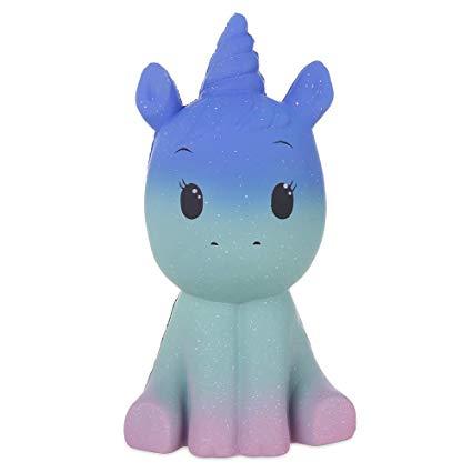 Amazon Com  Anboor 7 7  Squishies Jumbo Unicorn Galaxy Kawaii Soft