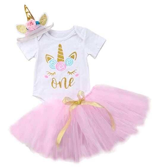 Amazon Com  Baby Girls 1st Birthday Tutu Dress Outfit Short Sleeve
