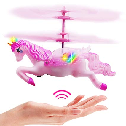 Amazon Com  Cjwpower Unicorn Toys, Pink Mini Flying Helicopter