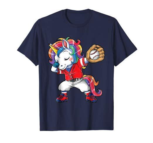 Amazon Com  Dabbing Unicorn Baseball T Shirt Kids Men Rainbow Dab
