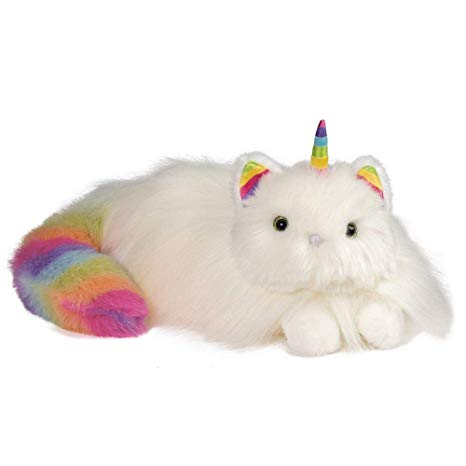 Amazon Com  Douglas Toys Ziggy The Caticorn Rainbow Fuzzle Cat