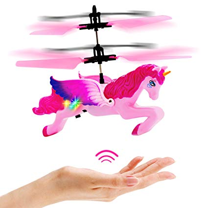 Amazon Com  Flying Unicorn Drone Toys Gifts For Girls Age 6 7 8 9