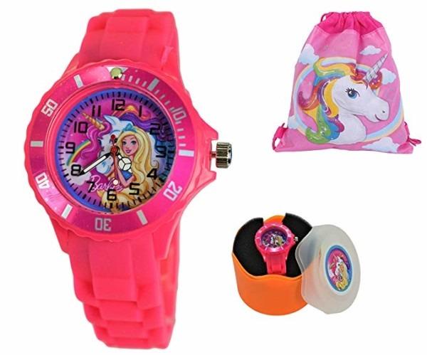 Amazon Com  Gift Set  Analog Barbie Unicorn Quartz Watch For Girls