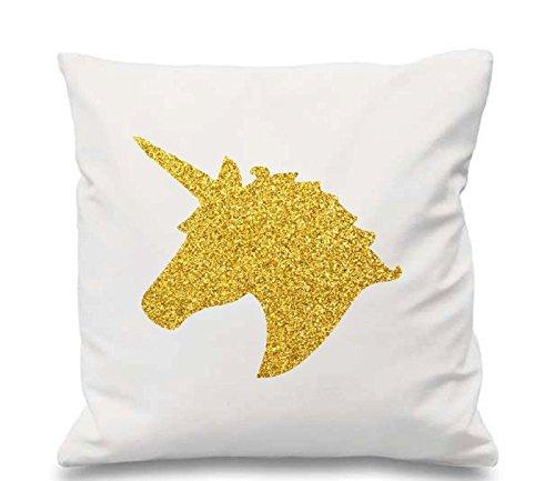 Amazon Com  Glitter Unicorn Pillow Case   Silver Or Gold