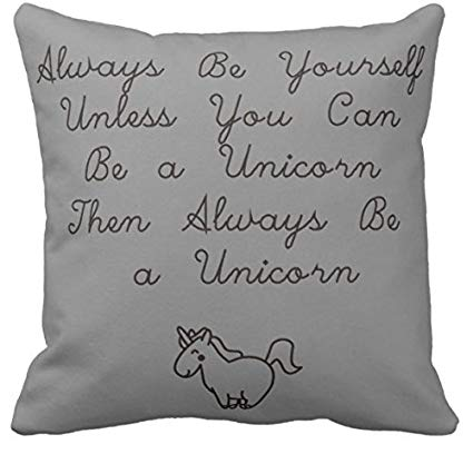 Amazon Com  Kissenday 18x18 Inch Always Be Yourself Unless You Can