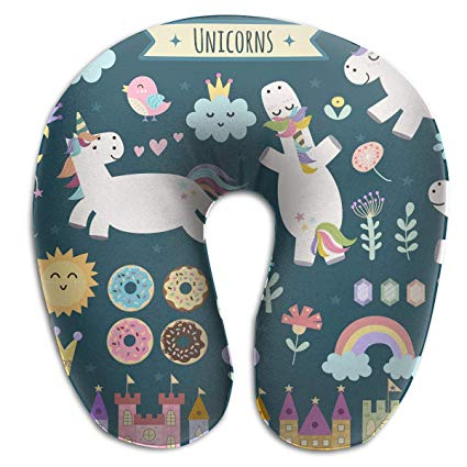 Amazon Com  Kopglnm Cheering Rainbow Unicorn Neck Pillow