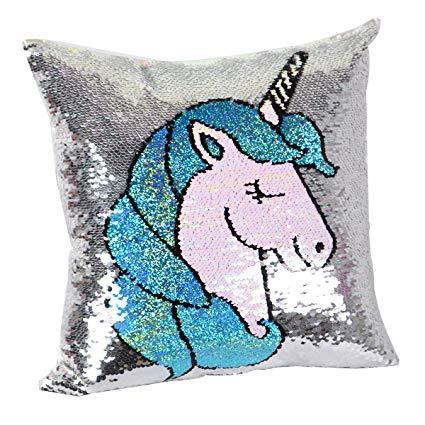 Amazon Com  Leegleri Unicorn Magic Reversible Sequins Pillow Case