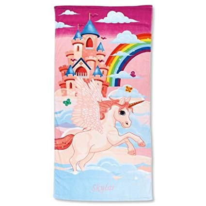 Amazon Com  Lillian Vernon Personalized Kids Rainbow Unicorn Beach