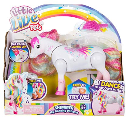 Amazon Com  Little Live Pets Shimmer My Dancing Unicorn Rainbow