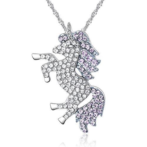 Amazon Com  Luytry Unicorn Necklace Rainbow Unicorn Micro