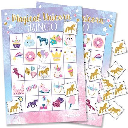 Amazon Com  Magical Unicorn Bingo Game