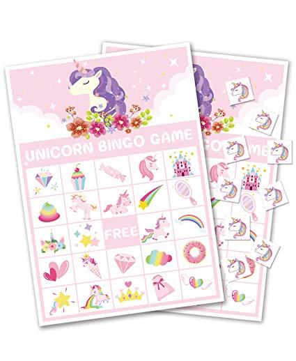 Amazon Com  Moon Boat Unicorn Bingo Game Party Supplies