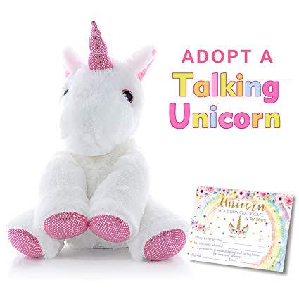 Amazon Com  Mordun Talking Unicorn Plush Stuffed Animal