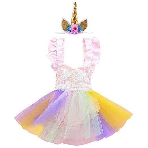 Amazon Com  Newborn Baby Toddler Girl Unicorn Costume Pastel Tutu