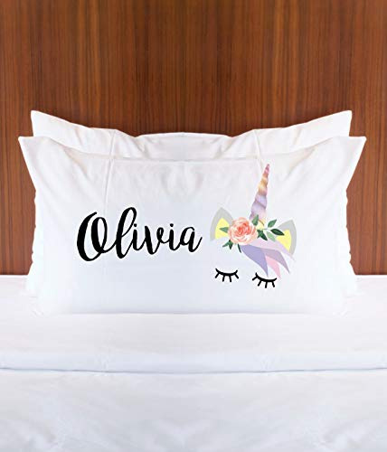 Amazon Com  Personalized Unicorn Pillowcase With Name For Girls