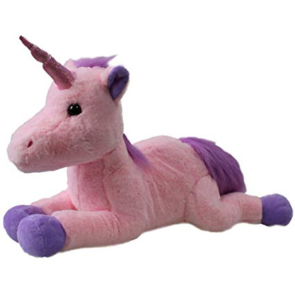 Amazon Com  Pink Unicorn Plush 17'' Baby Stuffed Animal  Toys & Games
