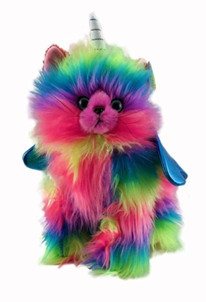 Amazon Com  Rainbow Butterfly Unicorn Kitten Stuffed Toy With