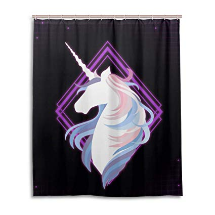 Amazon Com  Shower Curtain, Bathroom Shower Magical Unicorn
