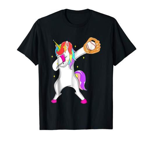 Amazon Com  Softball Dabbing Unicorn Baseball Girls Teens T