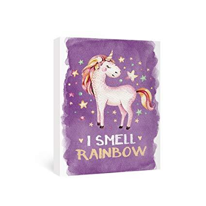 Amazon Com  Sumgar Canvas Wall Art Bedroom Purple Unicorn Pictures